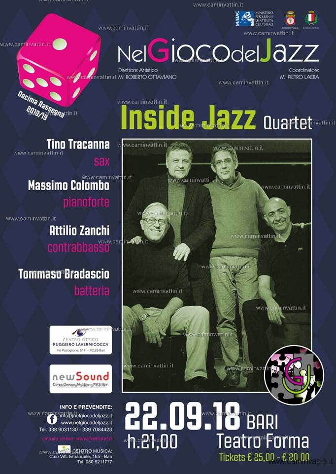 inside jazz quartet teatro forma
