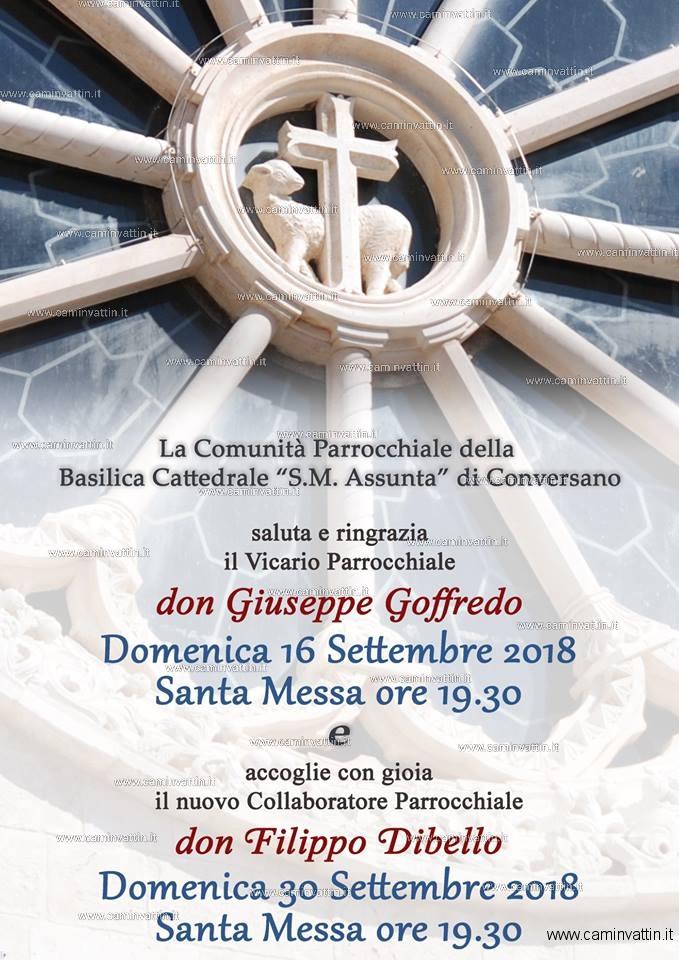 sante messe cattedrale conversano don giuseppe goffredo don filippo dibello