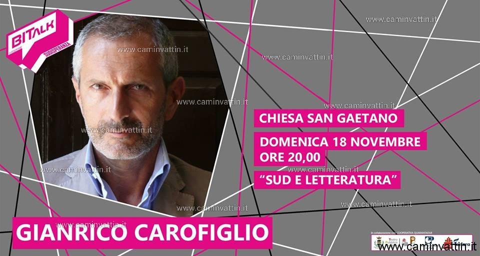 Gianrico Carofiglio a Bitonto per il BiTalk 2018 Sud e Letteratura