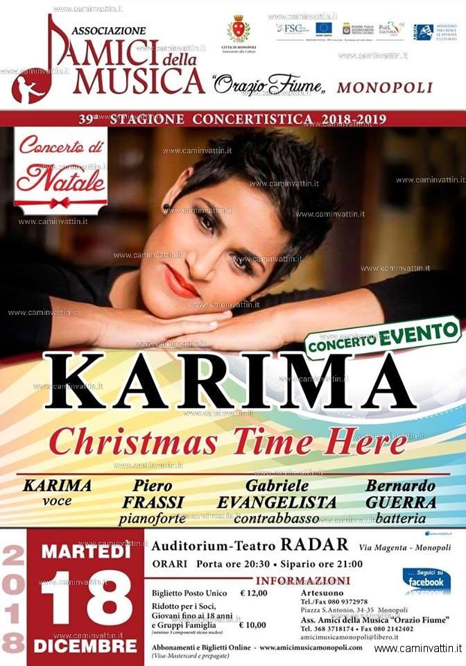 Karima feat Piero Frassi Trio in concerto a Monopoli