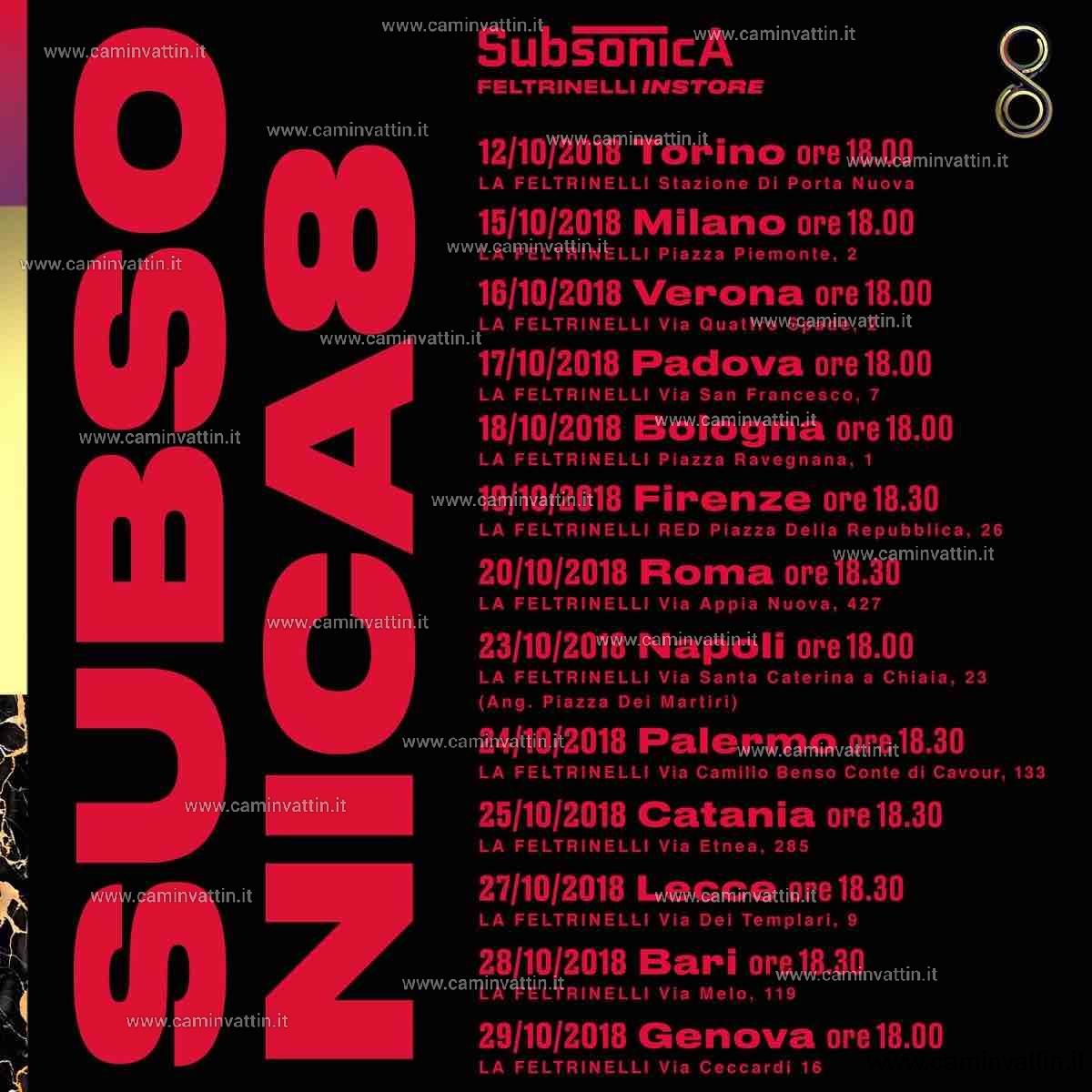 SUBSONICA incontrano i fan alla Feltrinelli di Bari 8 instore tour