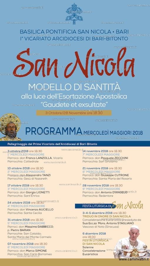 mercoledi maggiori 2018 san nicola