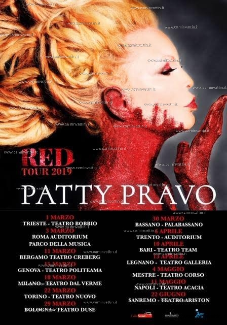 patty pravo red tour 2019
