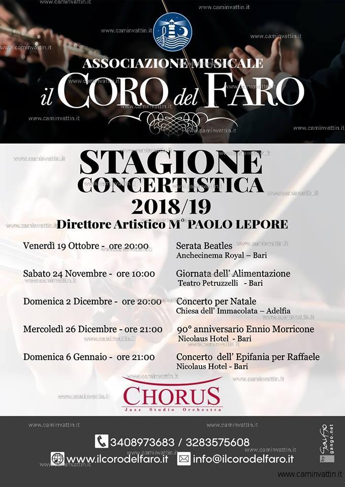stagione concertistica 2018 2019 il coro del faro