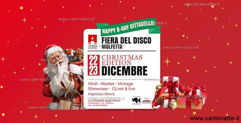 Fiera del Disco a Molfetta Christmas Edition