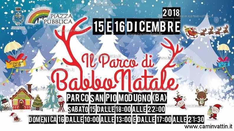 Il Parco di Babbo Natale a Modugno 2018