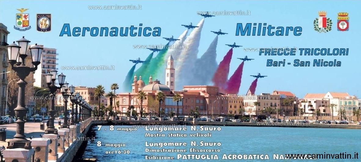 Calendario Frecce Tricolore 2020.Air Show Delle Frecce Tricolori A Bari Per La Festa Di San
