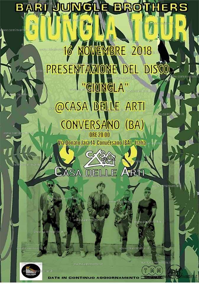 bari jungle brothers giungla tour conversano