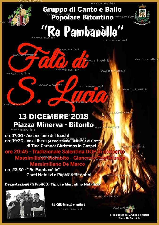 Falo di Santa Lucia a Bitonto XXII edizione