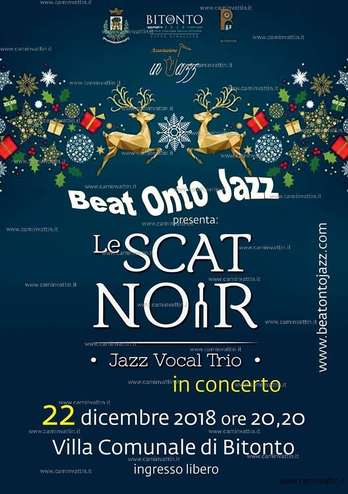 Le Scat Noir jazz vocal trio in concerto a Bitonto Beat Onto Jazz