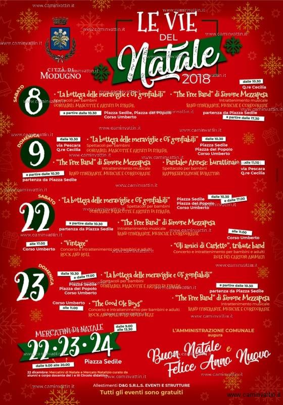 Le Vie del Natale a Modugno il cartellone degli eventi natalizi