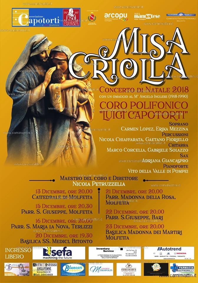 MISA CRIOLLA Concerti di Natale con il Coro Polifonico Luigi Capotorti