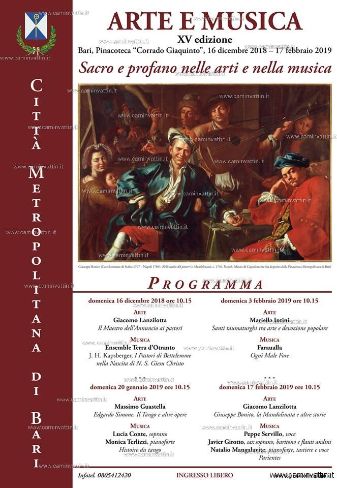 Sacro e profano in quattro appuntamenti di Arte e Musica alla Pinacoteca Corrado Giaquinto