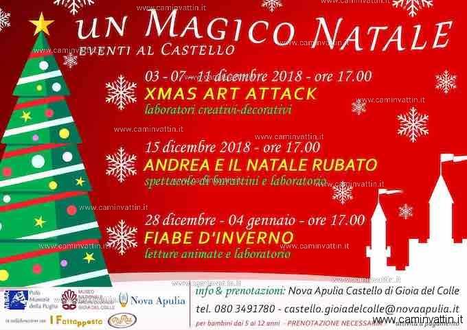 Un Magico Natale eventi al Castello di Gioia del Colle