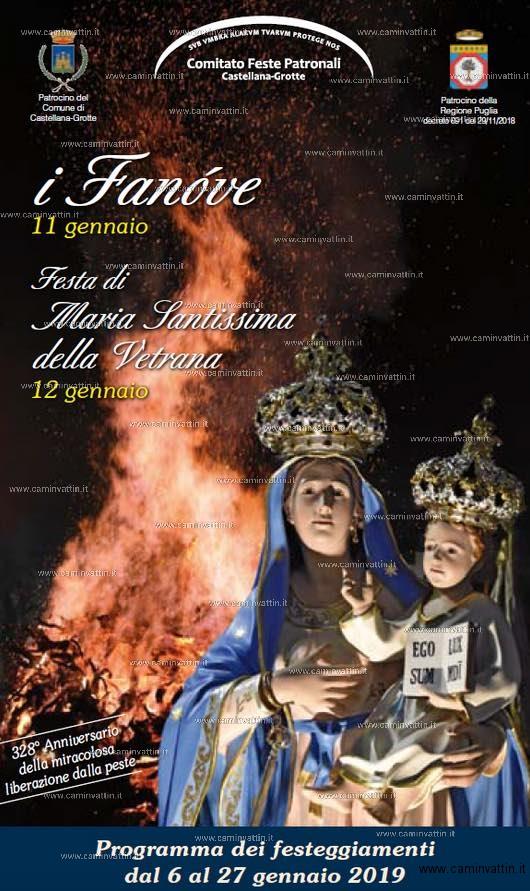 i fanove festa maria santissima della vetrana castellana grotte