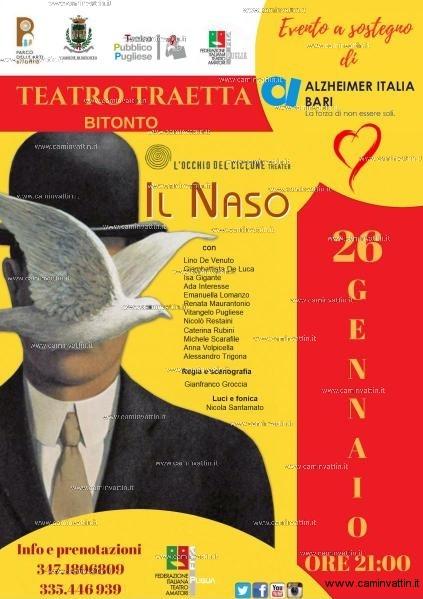 il naso teatro traetta alzheimer italia bari