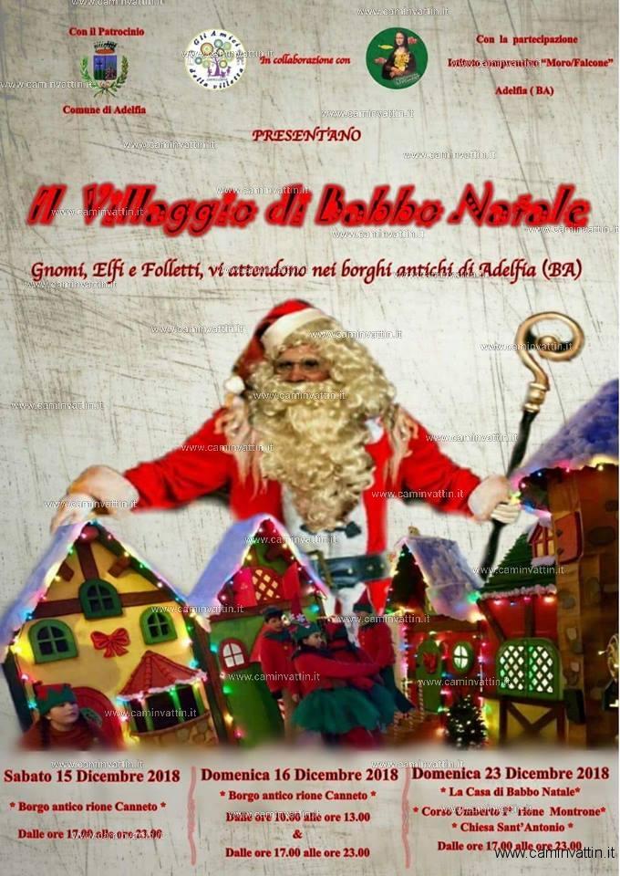 Babbo Natale E Gli Elfi.Il Villaggio Di Babbo Natale Ad Adelfia Gnomi Elfi E Folletti Vi