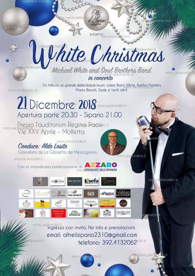 white christmas michael white and soul brothers band in concerto