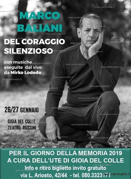 DEL CORAGGIO SILENZIOSO di Marco Baliani