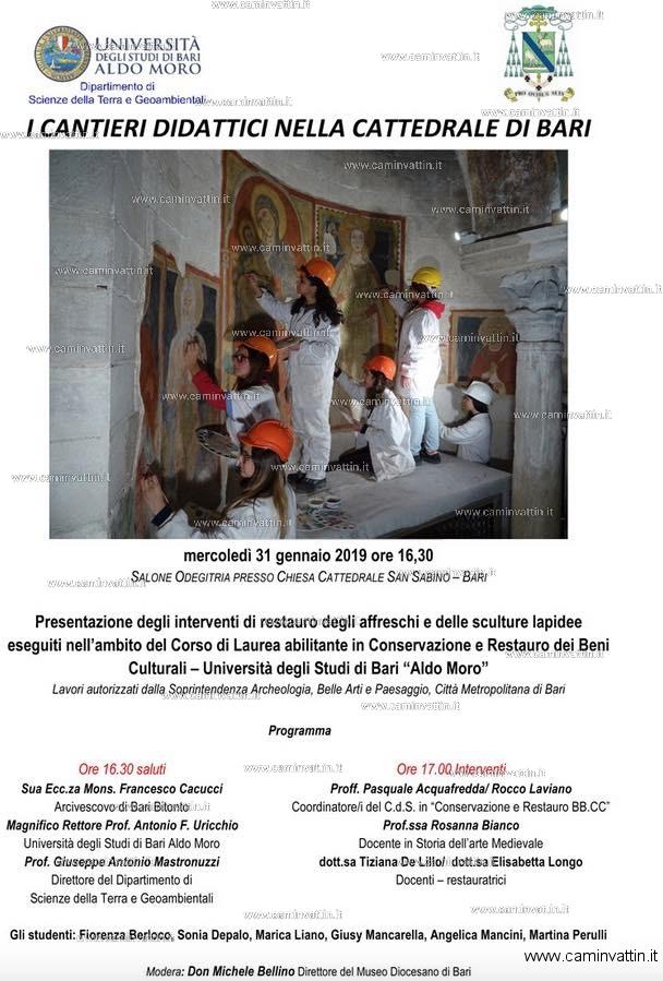 I cantieri didattici nella Cattedrale di Bari