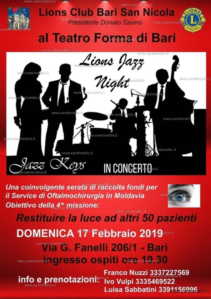 Lions Jazz Night al Teatro Forma