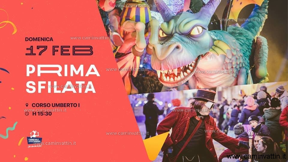 Prima sfilata del Carnevale di Putignano 2019