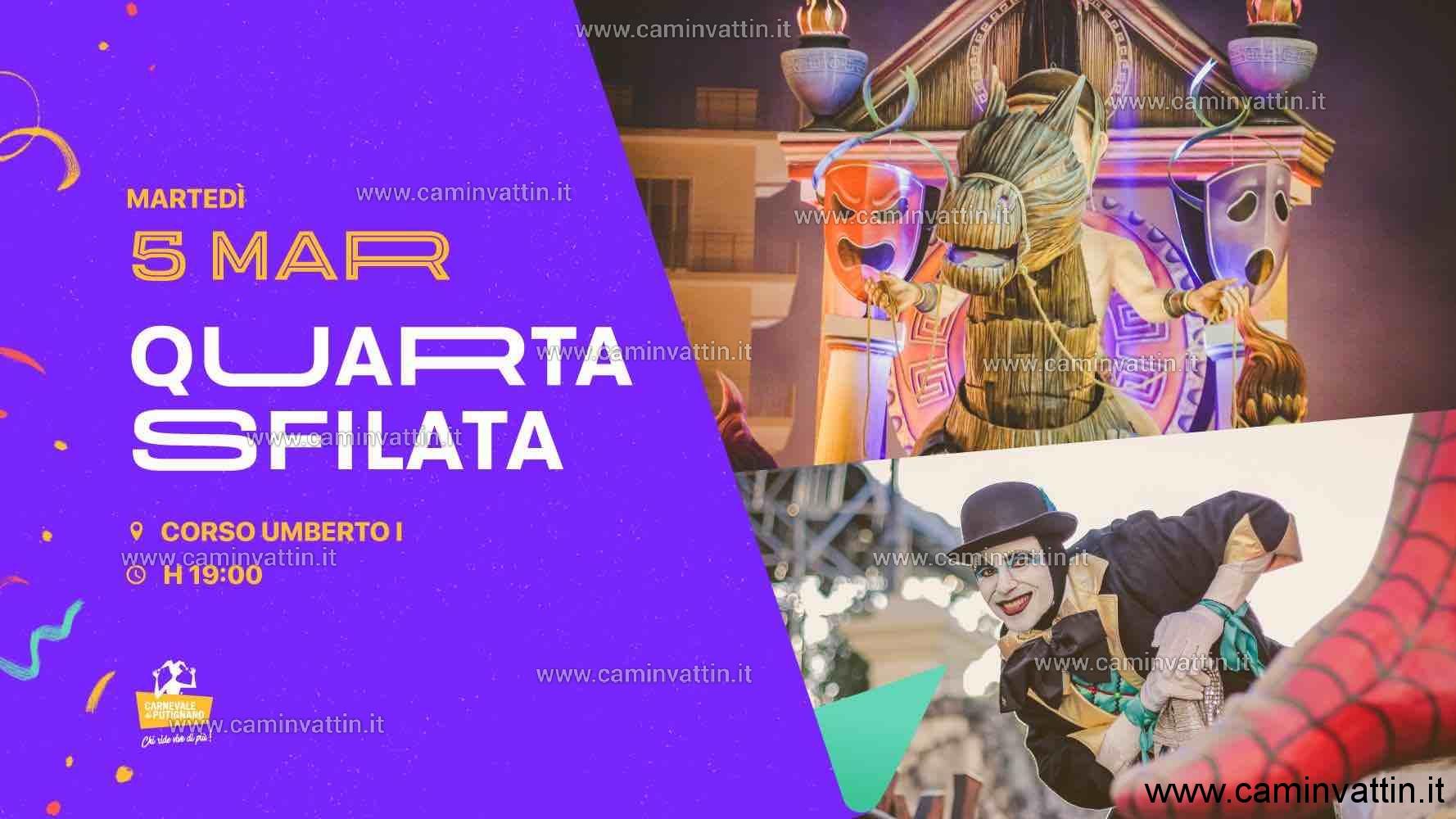 Quarta sfilata del Carnevale di Putignano 2019