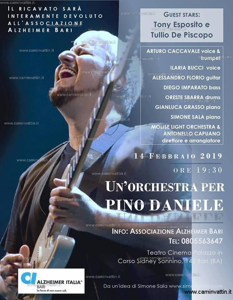 Un orchestra per Pino Daniele Tony Esposito e Tullio De Piscopo al Teatro Palazzo