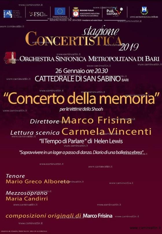 concerto della memoria cattedrale di bari