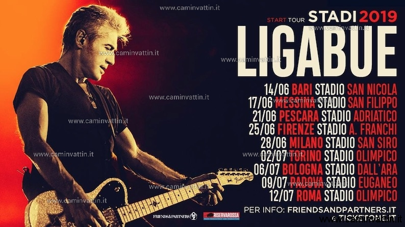 ligabue tour 2019 start