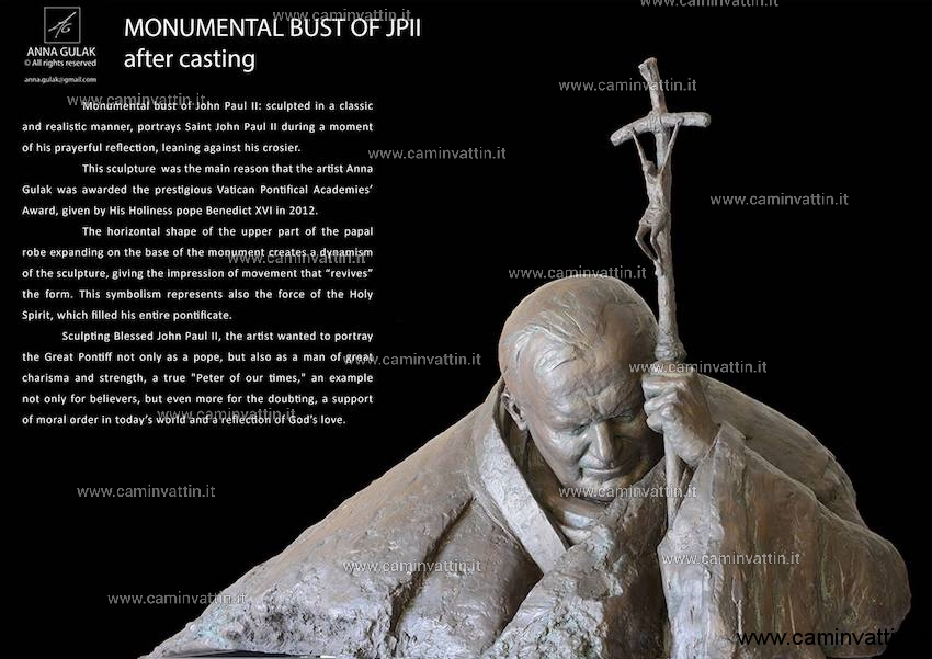 monumental bust of john paul II anna gulak