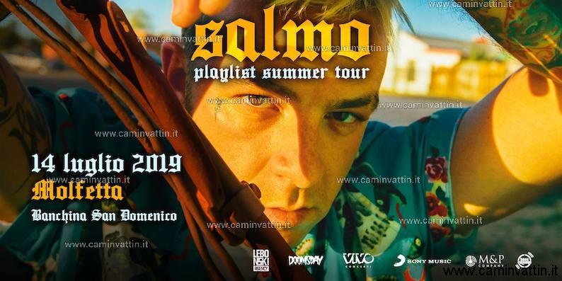 salmo playlist summer tour molfetta 2019