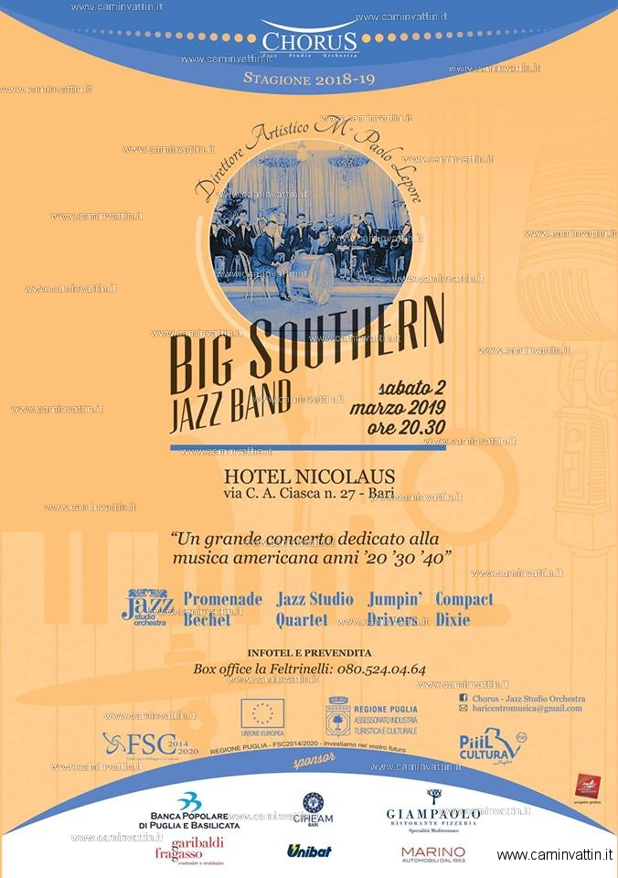 Big Southern Jazz Band in concerto al Nicolaus Hotel