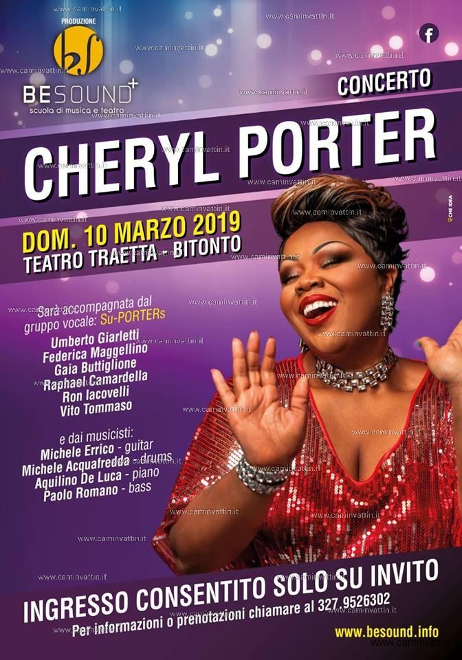 CHERYL PORTER in concerto a Bitonto