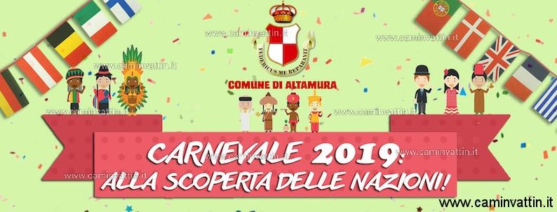Carnevale Altamurano 2019 alla scoperta delle Nazioni