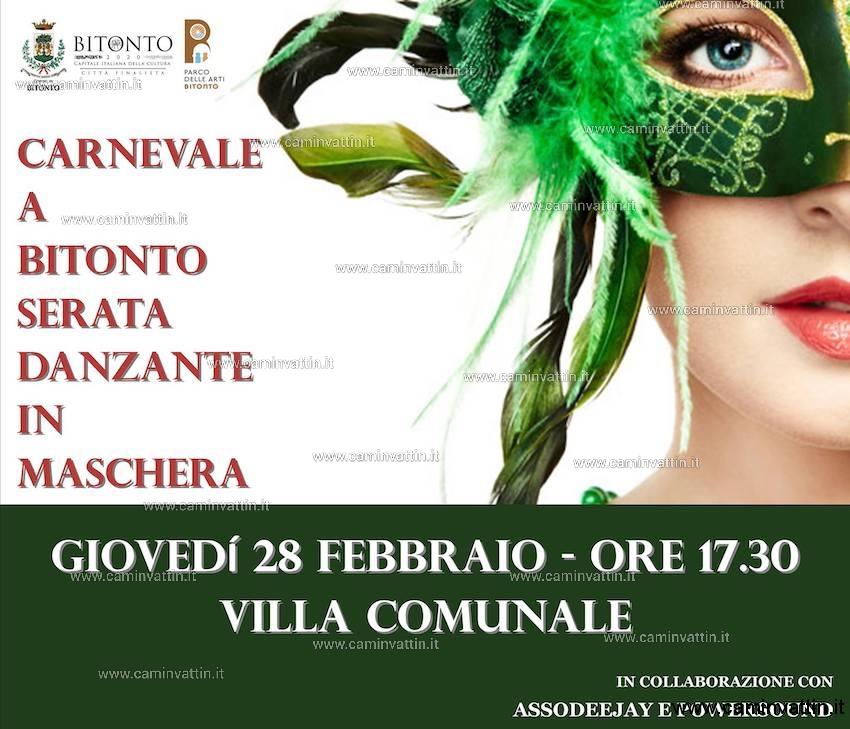 Carnevale a Bitonto serata danzante in maschera