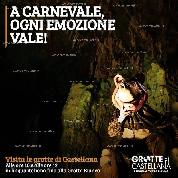 Carnevale e Festa della Donna aperture e promozioni alle Grotte di Castellana