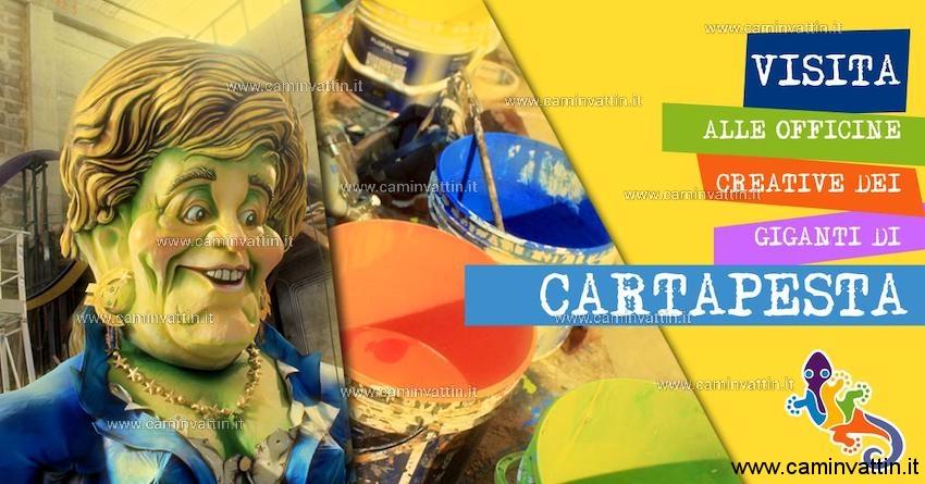 Visita alle Officine Creative dei Giganti di cartapesta del Carnevale di Putignano