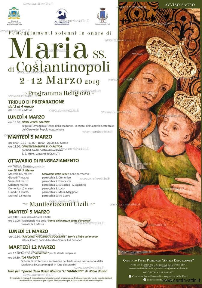 festa maria santissima di costantinopoli acquaviva delle fonti 2019