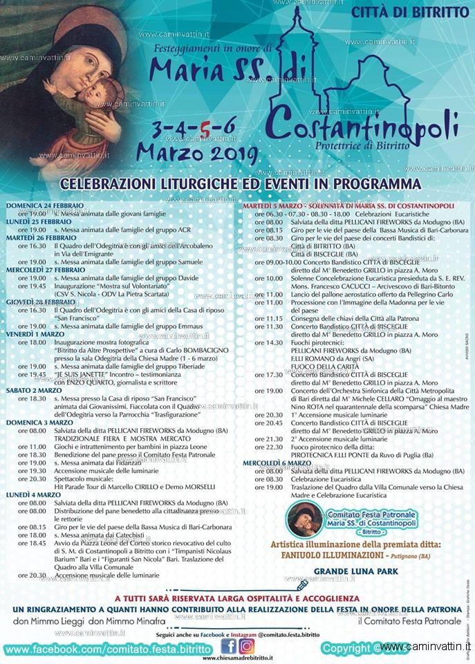 festa maria ss di costantinopoli bitritto 2019