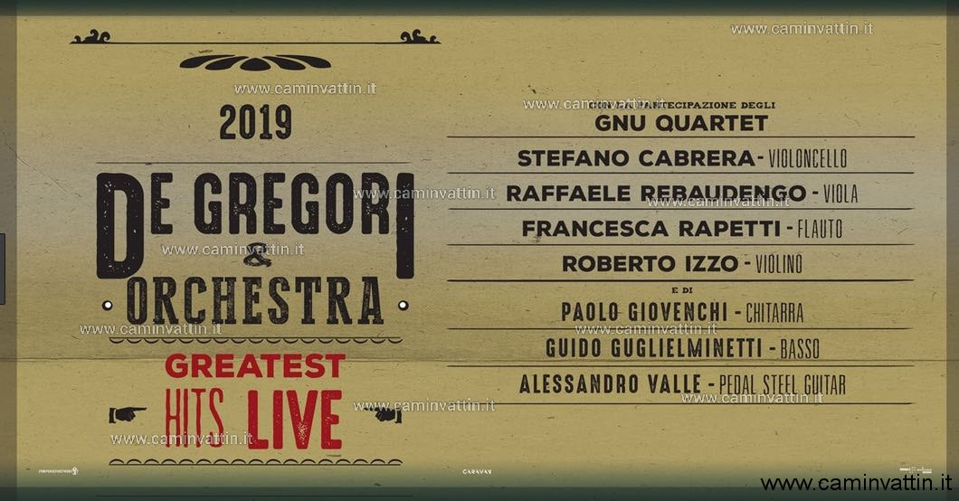 francesco de gregori orchestra greatest hits live