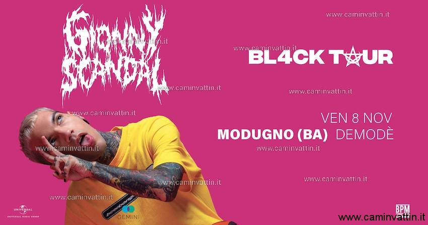 gionny scandal black tour demode club modugno bari