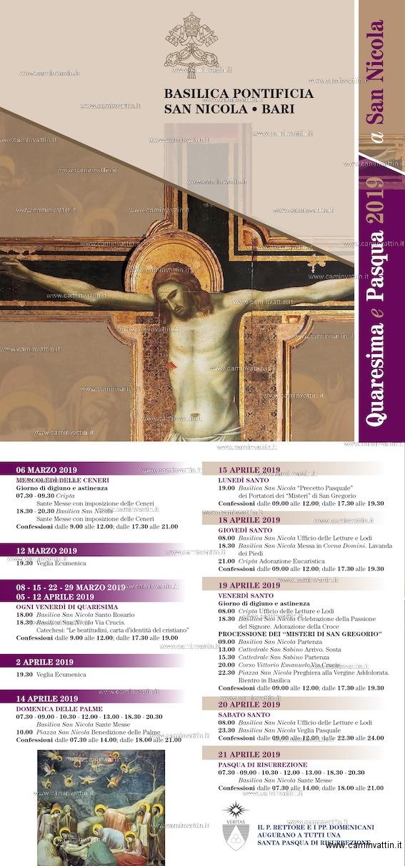 quaresima pasqua 2019 basilica san nicola