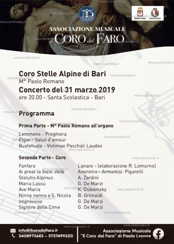 Festival di Pasqua Il Coro Stelle Alpine di Bari