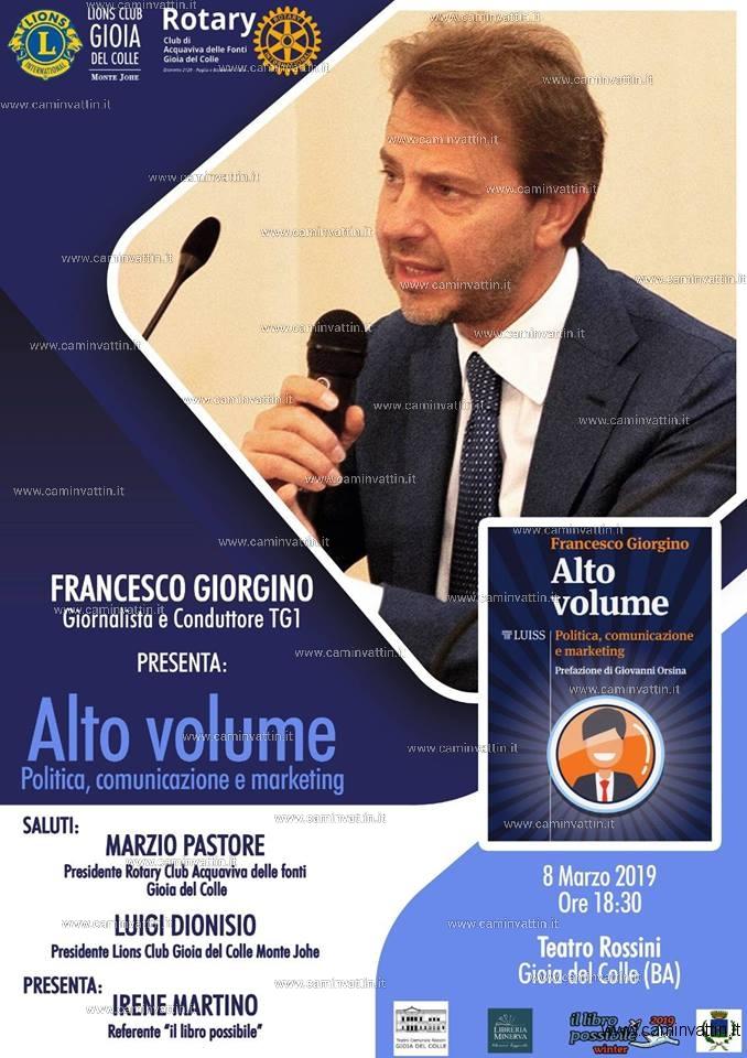 Francesco Giorgino presenta Alto Volume
