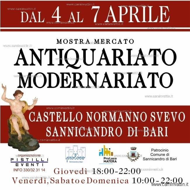 Calendario Mercatini Antiquariato Puglia.Mostra Mercato Antiquariato E Modernariato Nel Castello