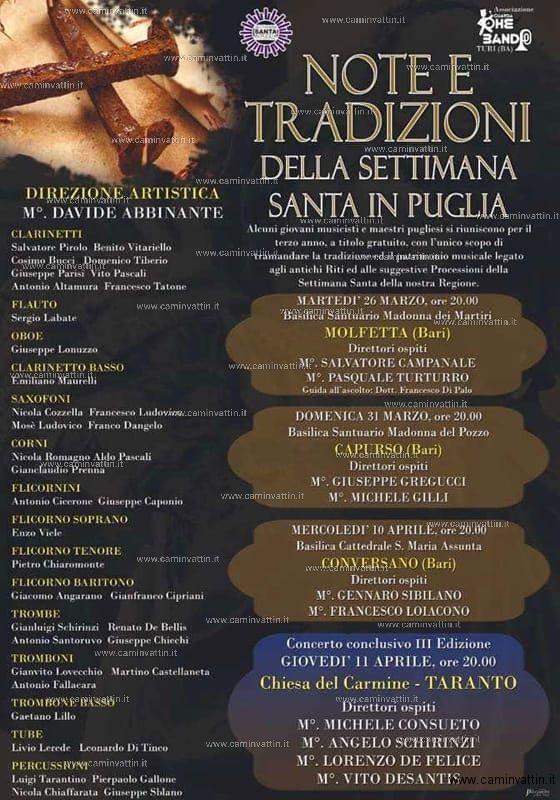 NOTE E TRADIZIONE della Settimana Santa in Puglia
