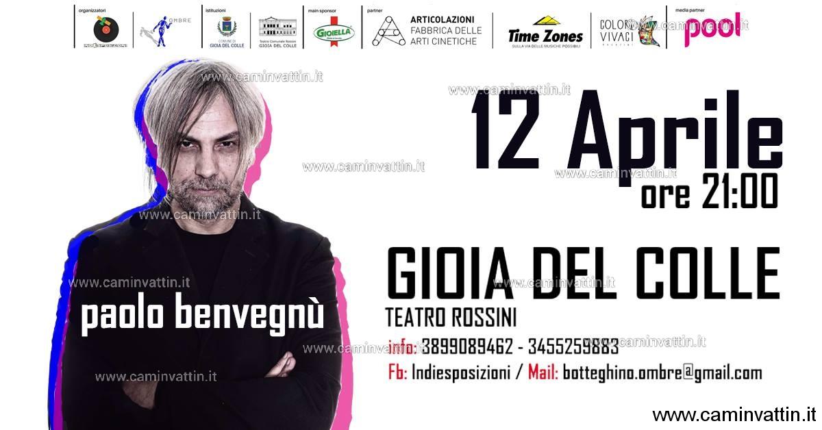 Paolo Benvegnu in concerto a Gioia del Colle
