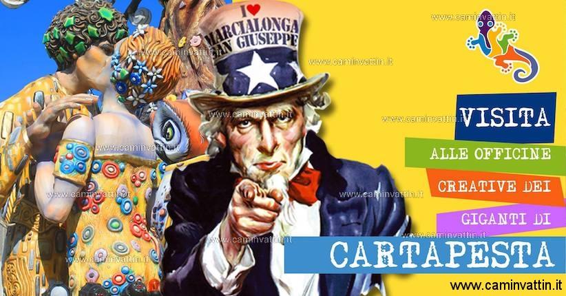 Visita Officine Creative dei Giganti di cartapesta Carnevale di Putignano