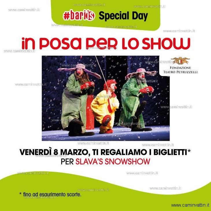biglietti omaggio teatro petruzzelli slavas snow show